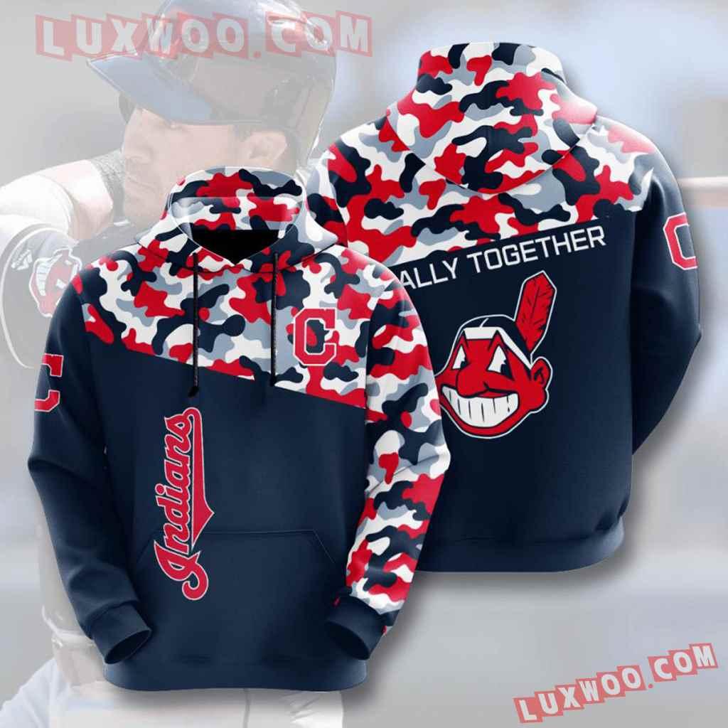 Mlb Cleveland Indians 3d Hoodies Printed Zip Hoodies Sweatshirt Jacket V3
