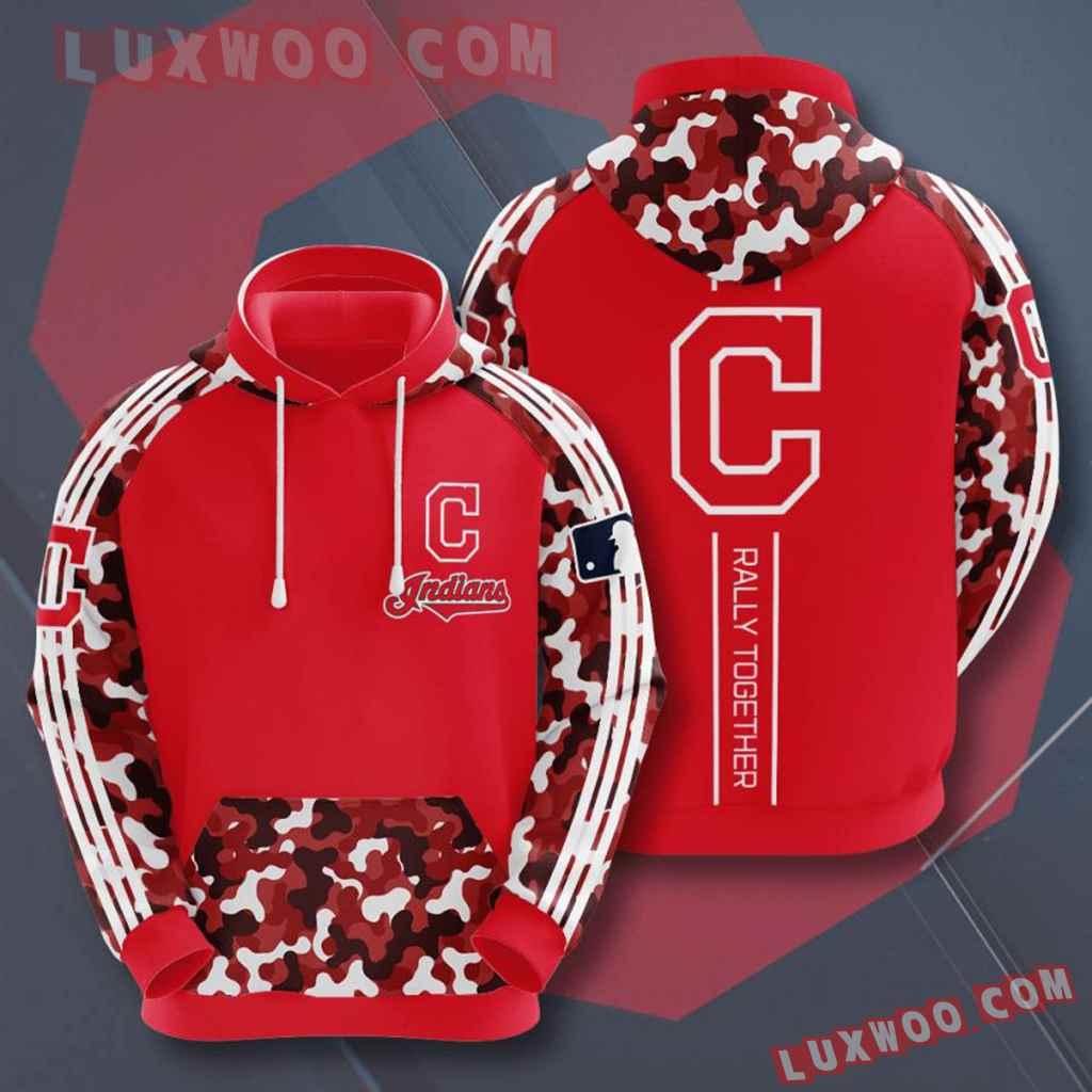 Mlb Cleveland Indians 3d Hoodies Printed Zip Hoodies Sweatshirt Jacket V7