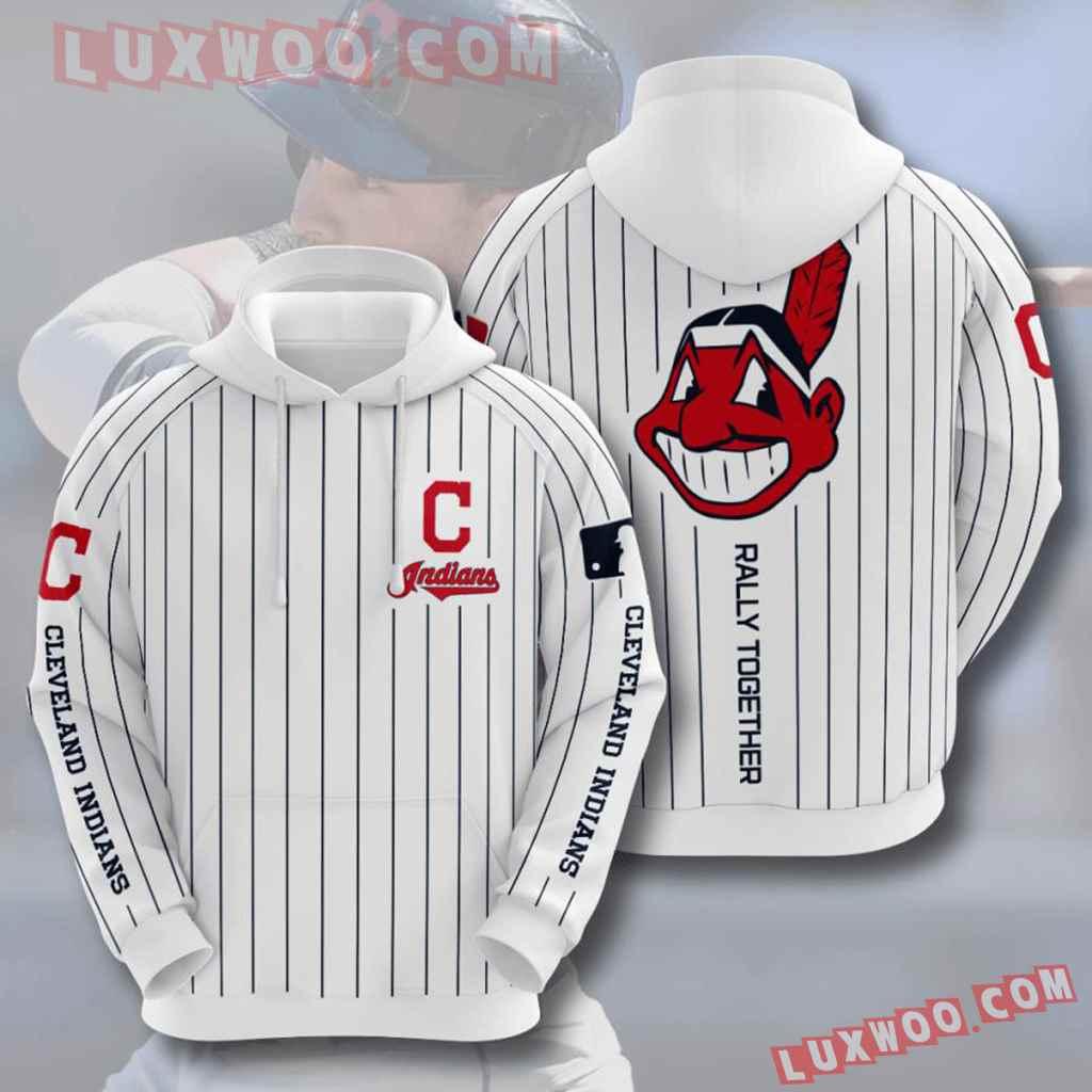 Mlb Cleveland Indians 3d Hoodies Printed Zip Hoodies Sweatshirt Jacket V9