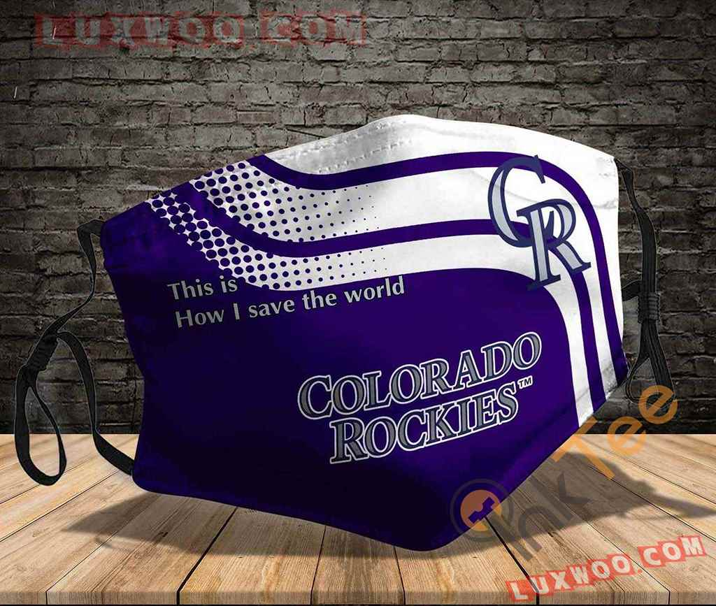Mlb Colorado Rockies 3d Face Mask V1