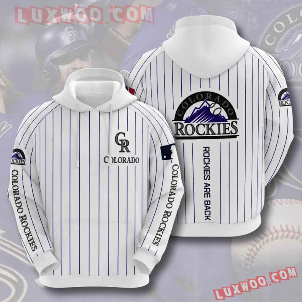 Mlb Colorado Rockies 3d Hoodies Printed Zip Hoodies Sweatshirt Jacket V4
