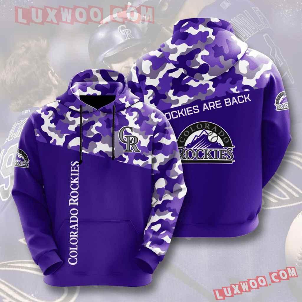 Mlb Colorado Rockies 3d Hoodies Printed Zip Hoodies Sweatshirt Jacket V7