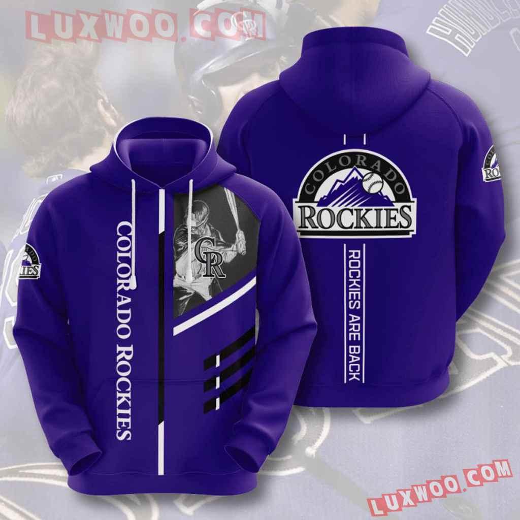 Mlb Colorado Rockies 3d Hoodies Printed Zip Hoodies Sweatshirt Jacket V8