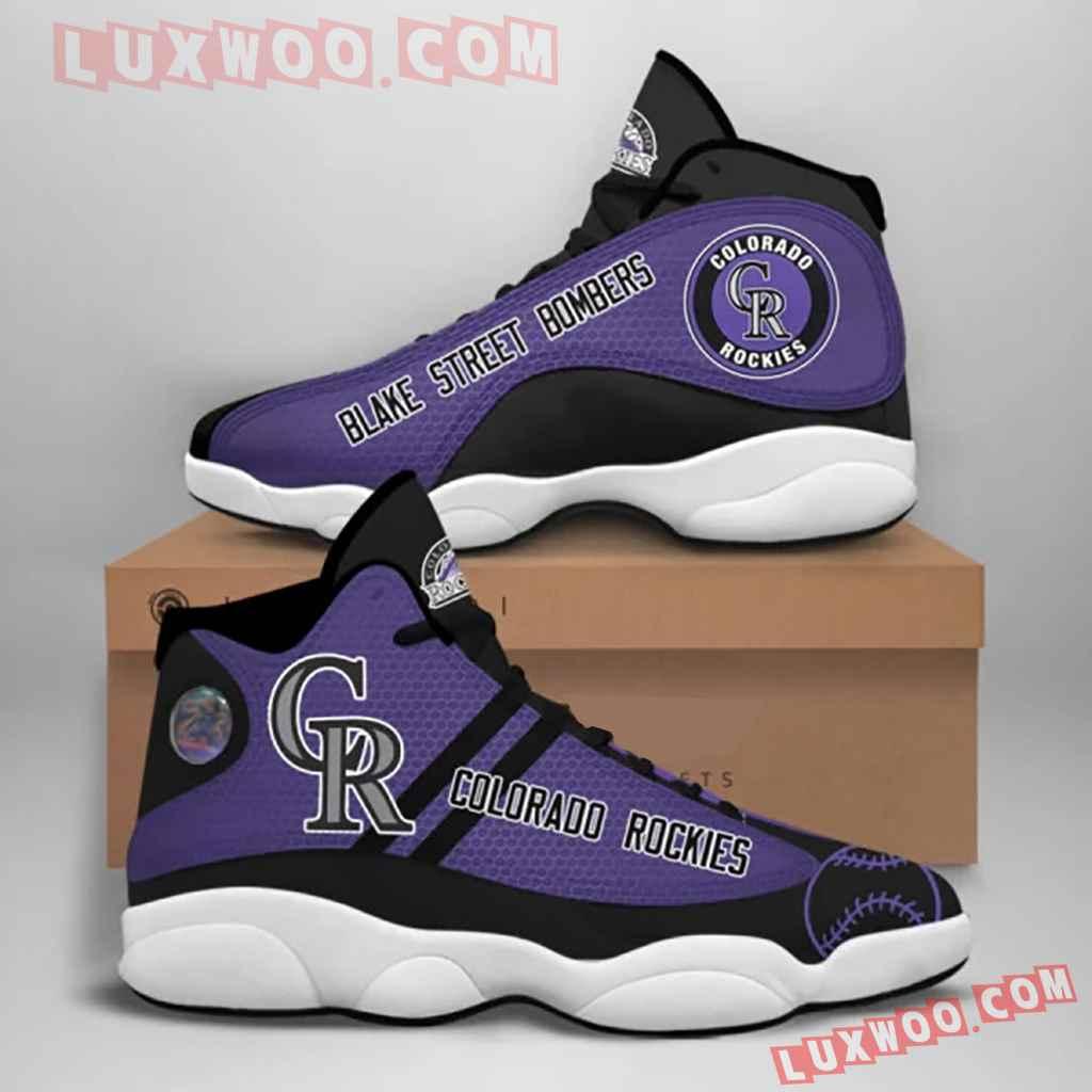 Mlb Colorado Rockies Air Jordan 13 Custom Shoes Sneaker V1