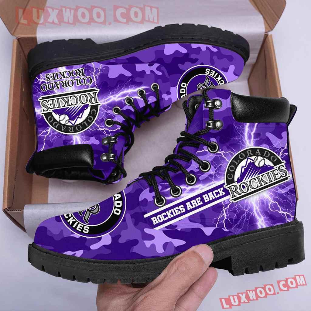 Mlb Colorado Rockies Season Boots Shoes V1