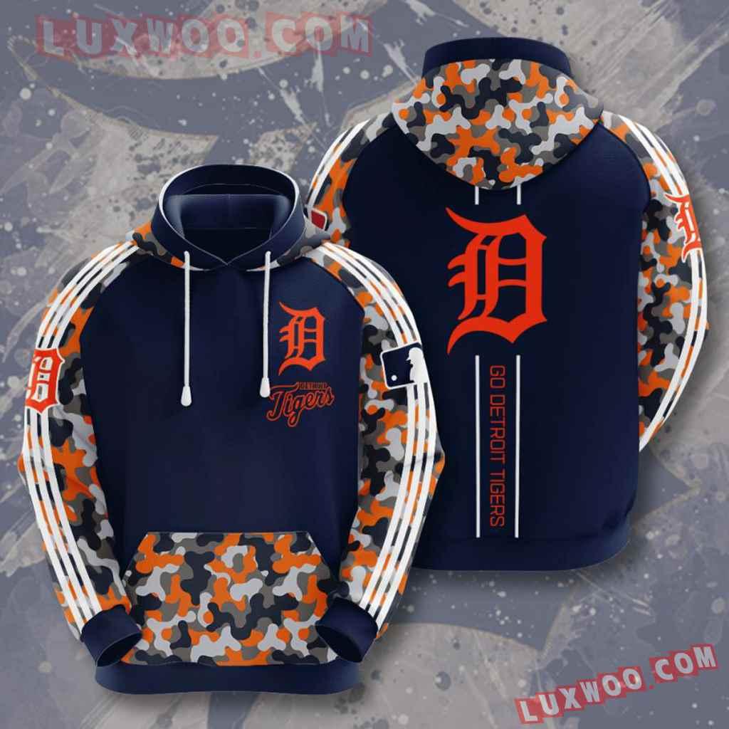 Mlb Detroit Tigers 3d Hoodies Printed Zip Hoodies Sweatshirt Jacket V1