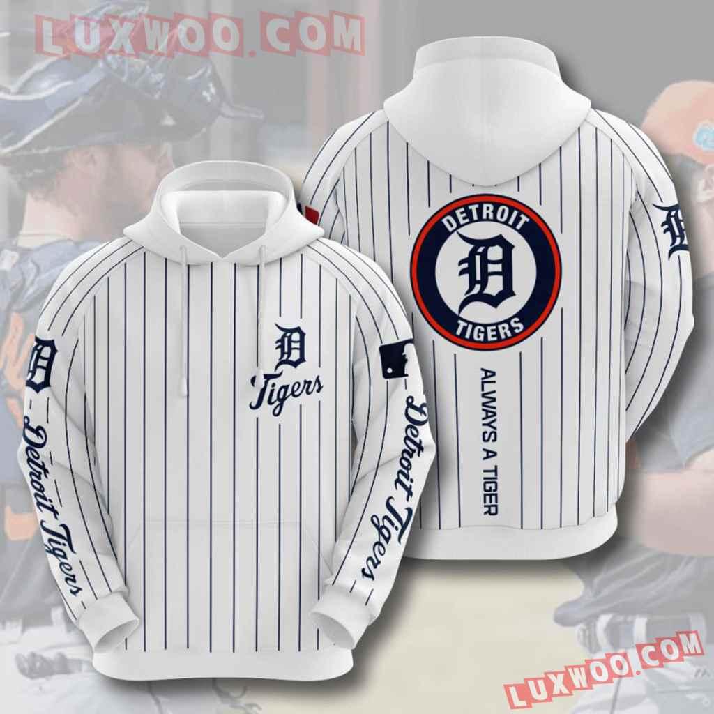 Mlb Detroit Tigers 3d Hoodies Printed Zip Hoodies Sweatshirt Jacket V10