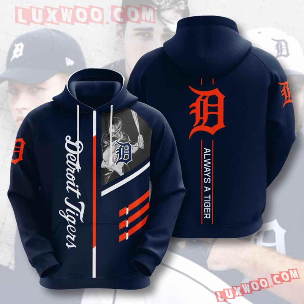 Mlb Detroit Tigers 3d Hoodies Printed Zip Hoodies Sweatshirt Jacket V11