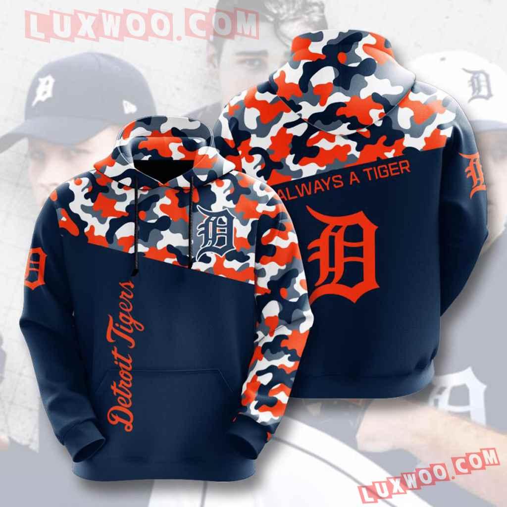 Mlb Detroit Tigers 3d Hoodies Printed Zip Hoodies Sweatshirt Jacket V2