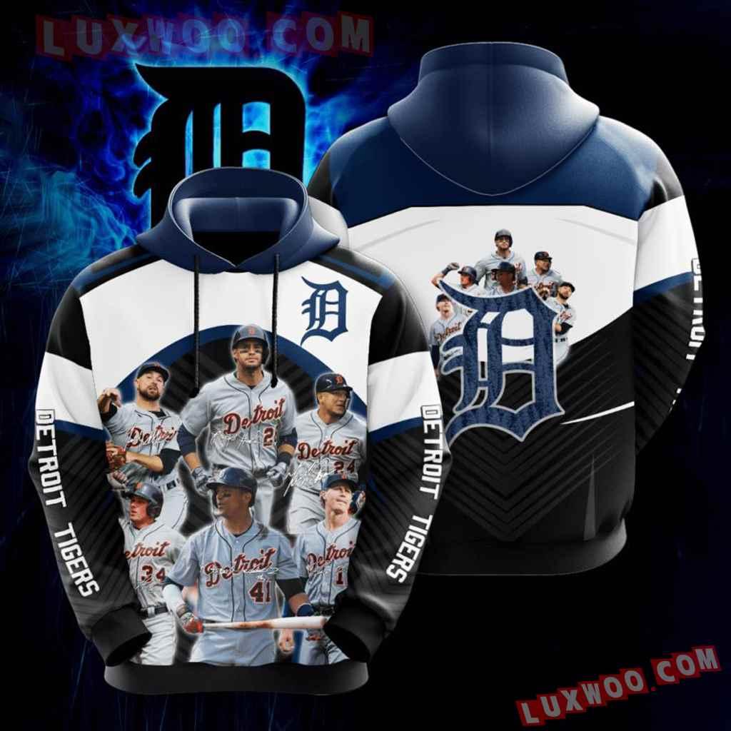 Mlb Detroit Tigers 3d Hoodies Printed Zip Hoodies Sweatshirt Jacket V3