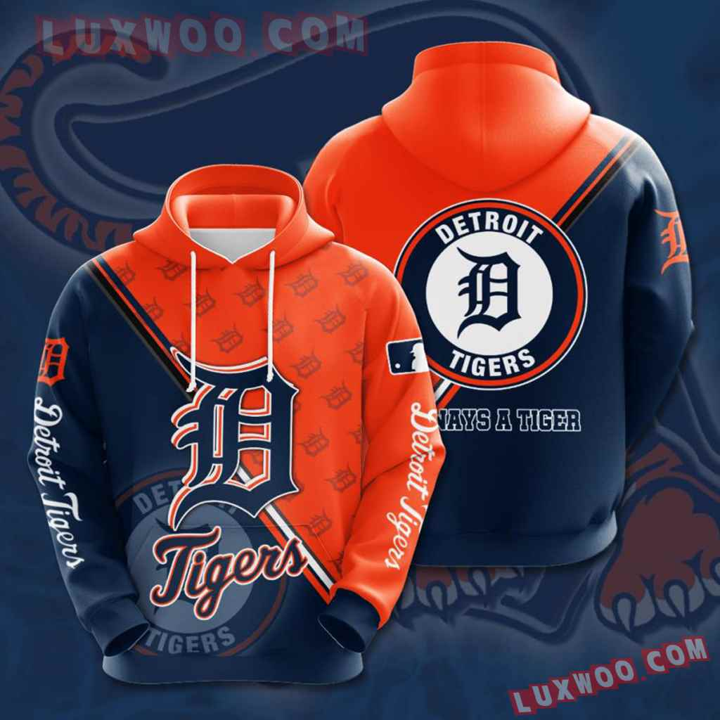 Mlb Detroit Tigers 3d Hoodies Printed Zip Hoodies Sweatshirt Jacket V4