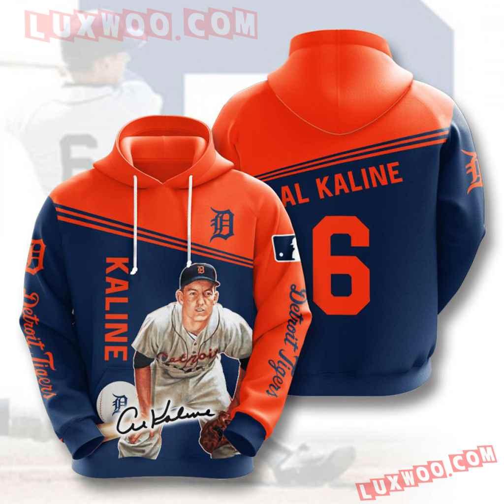 Mlb Detroit Tigers 3d Hoodies Printed Zip Hoodies Sweatshirt Jacket V5