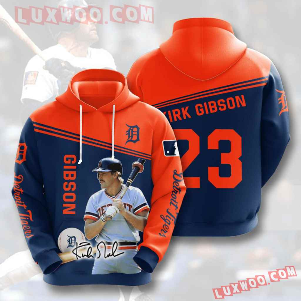 Mlb Detroit Tigers 3d Hoodies Printed Zip Hoodies Sweatshirt Jacket V6
