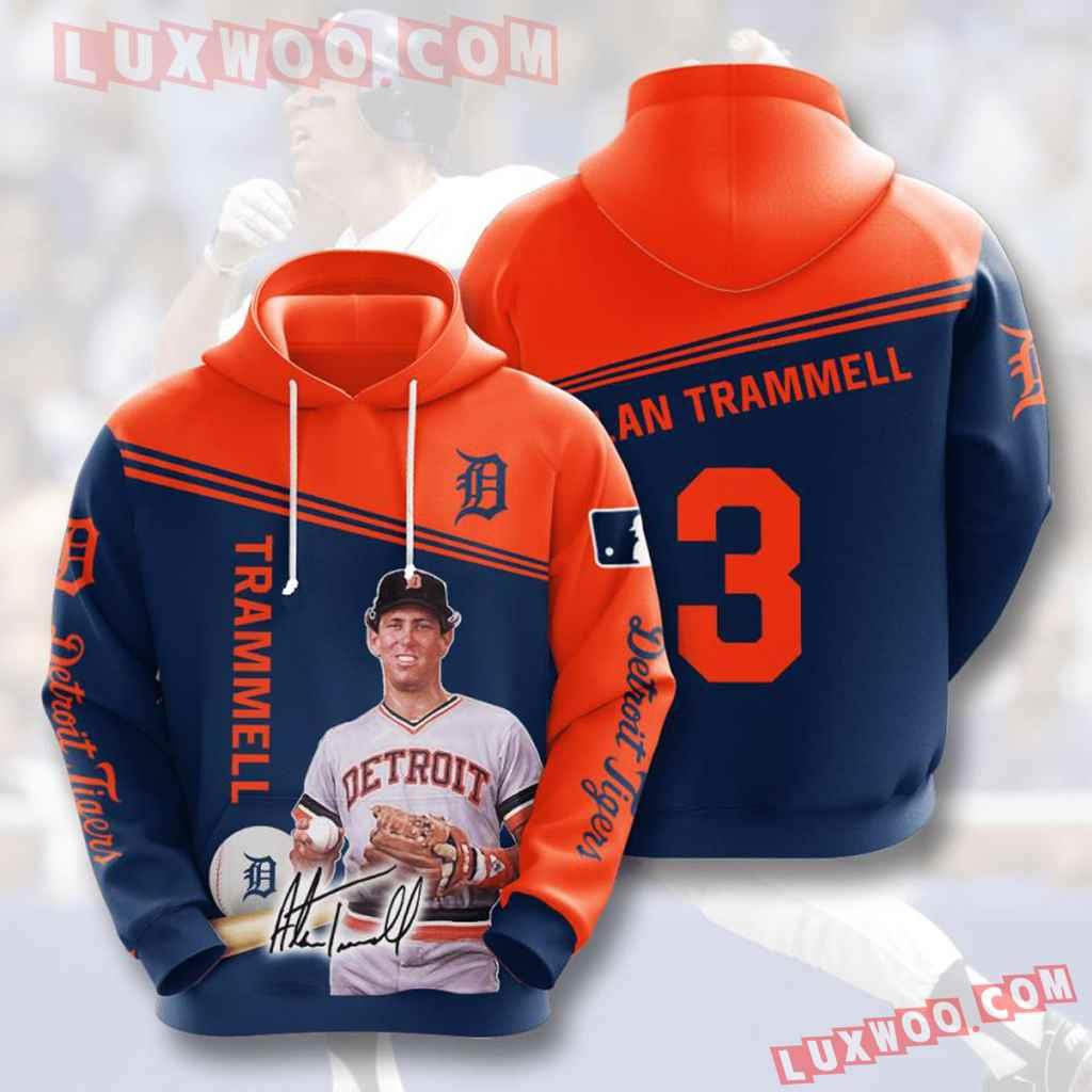 Mlb Detroit Tigers 3d Hoodies Printed Zip Hoodies Sweatshirt Jacket V7
