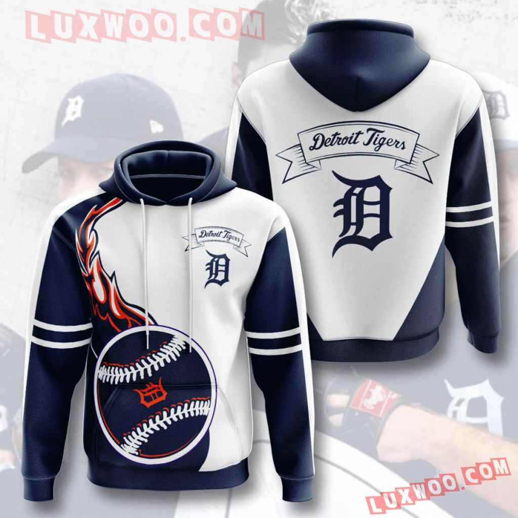 Mlb Detroit Tigers 3d Hoodies Printed Zip Hoodies Sweatshirt Jacket V8
