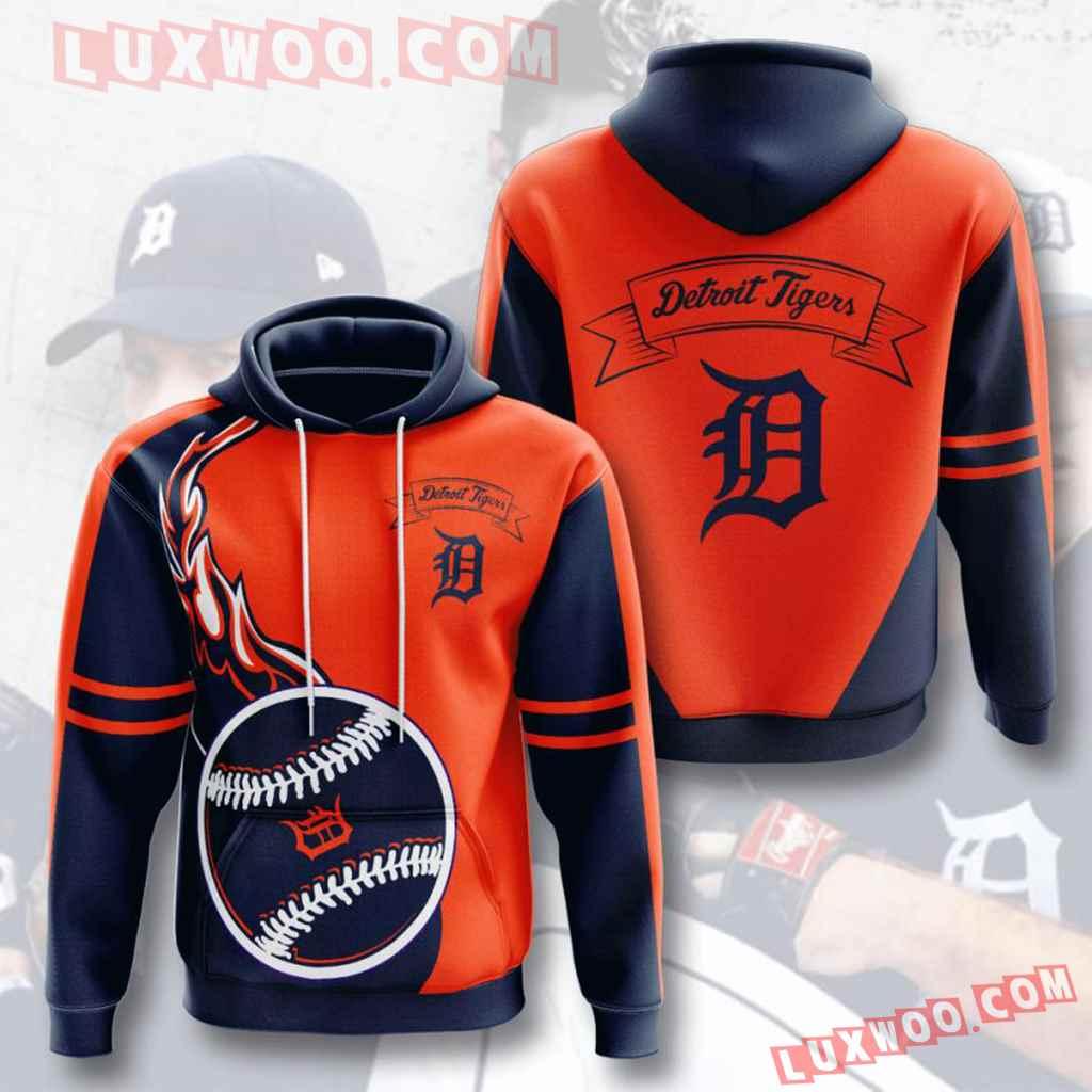 Mlb Detroit Tigers 3d Hoodies Printed Zip Hoodies Sweatshirt Jacket V9