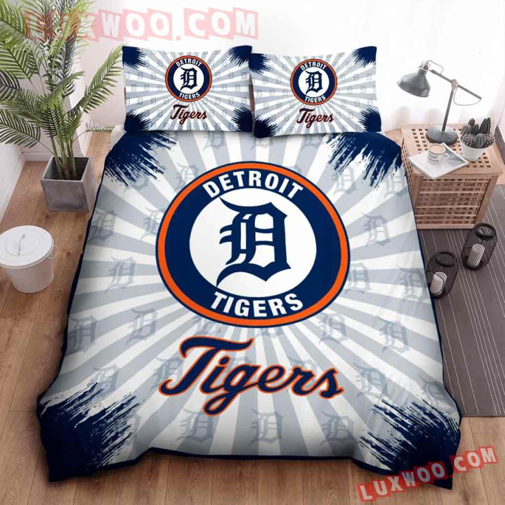 Mlb Detroit Tigers 3d Quilt Bedding Set V1