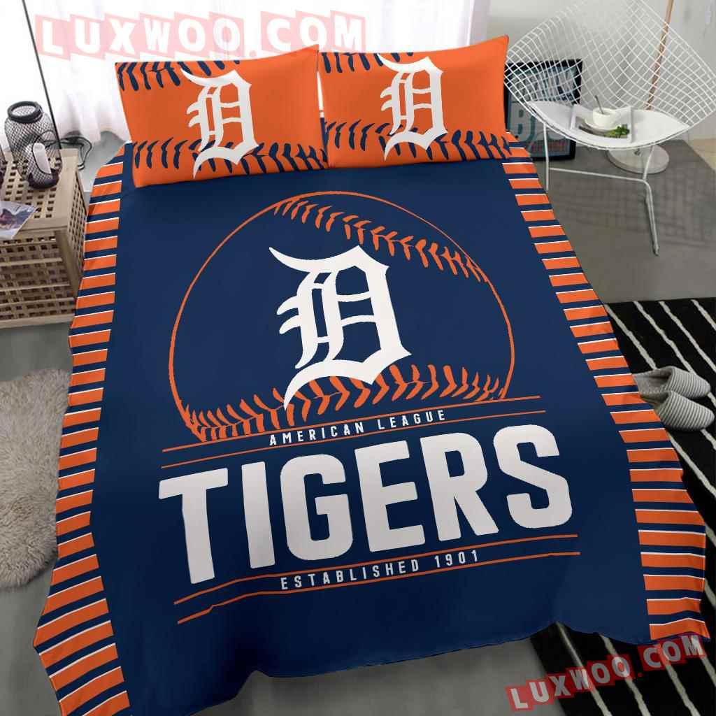 Mlb Detroit Tigers 3d Quilt Bedding Set V2