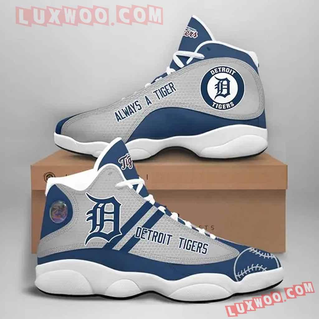 Mlb Detroit Tigers Air Jordan 13 Custom Shoes Sneaker V1