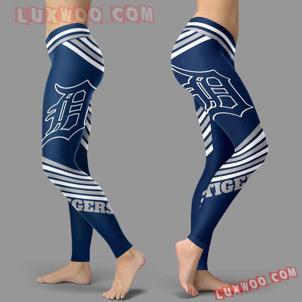 Mlb Detroit Tigers Leggings 3d Custom Print Leggings Sport V2