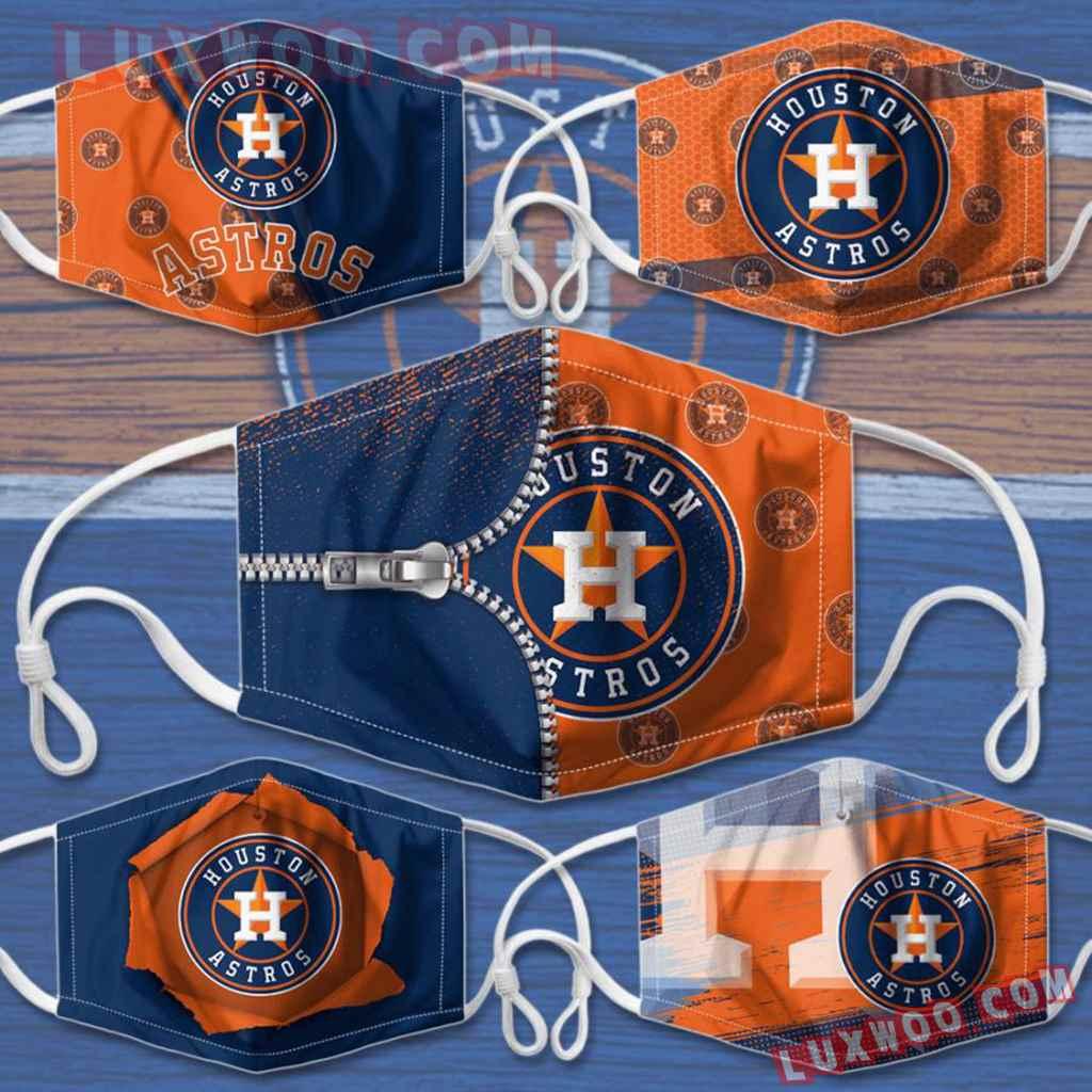 Mlb Houston Astros 3d Face Mask Combo 5 V2