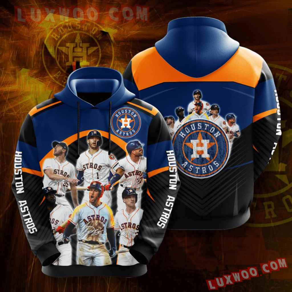 Mlb Houston Astros 3d Hoodies Printed Zip Hoodies Sweatshirt Jacket V1