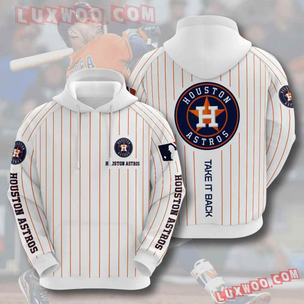 Mlb Houston Astros 3d Hoodies Printed Zip Hoodies Sweatshirt Jacket V10