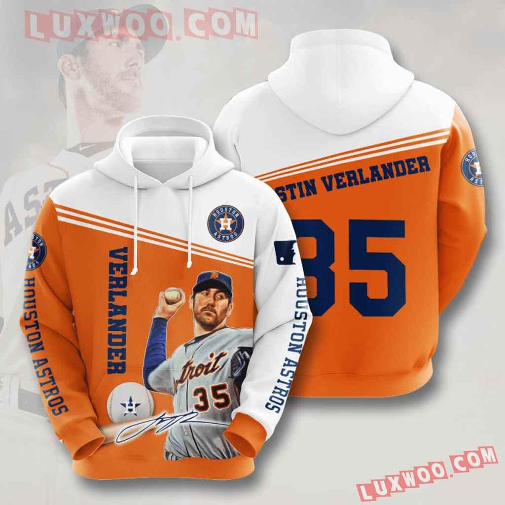Mlb Houston Astros 3d Hoodies Printed Zip Hoodies Sweatshirt Jacket V11