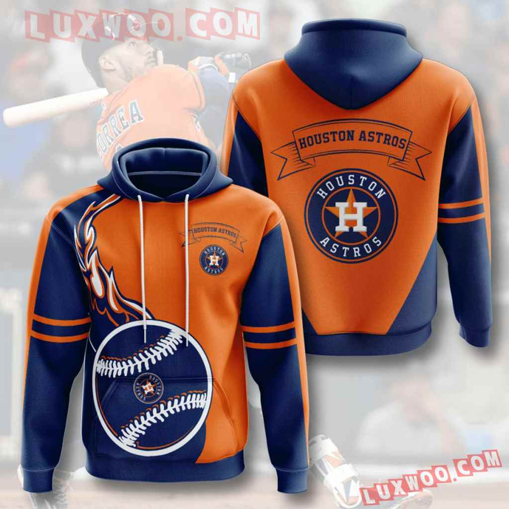 Mlb Houston Astros 3d Hoodies Printed Zip Hoodies Sweatshirt Jacket V2