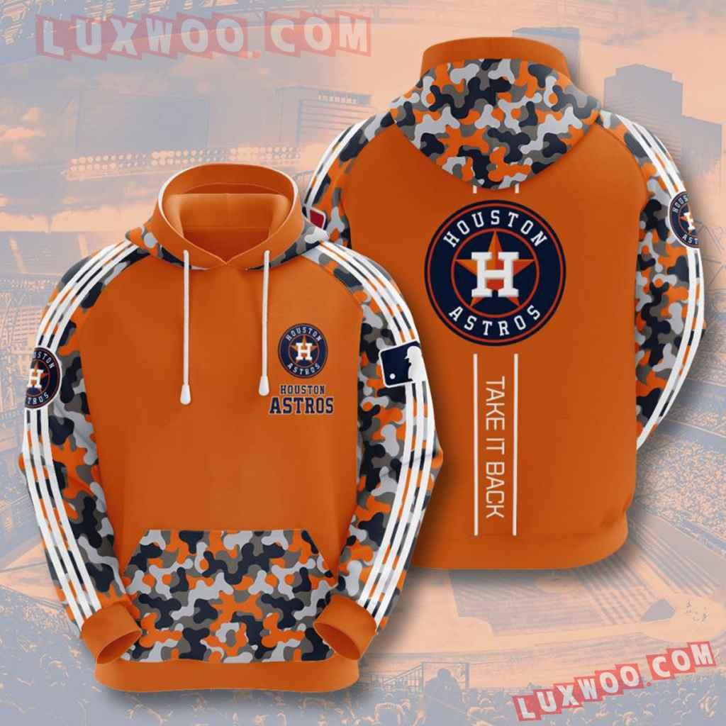 Mlb Houston Astros 3d Hoodies Printed Zip Hoodies Sweatshirt Jacket V3