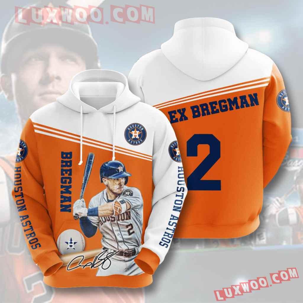 Mlb Houston Astros 3d Hoodies Printed Zip Hoodies Sweatshirt Jacket V4
