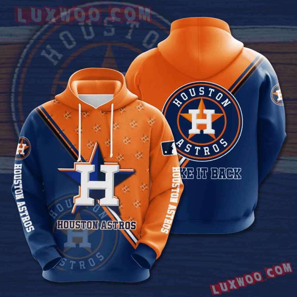 Mlb Houston Astros 3d Hoodies Printed Zip Hoodies Sweatshirt Jacket V5