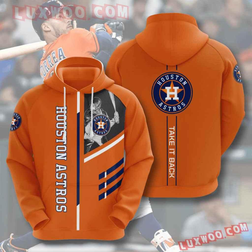 Mlb Houston Astros 3d Hoodies Printed Zip Hoodies Sweatshirt Jacket V6
