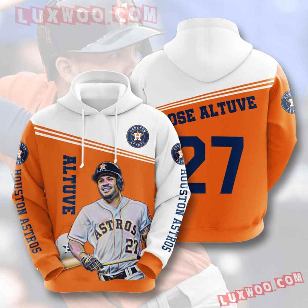 Mlb Houston Astros 3d Hoodies Printed Zip Hoodies Sweatshirt Jacket V8