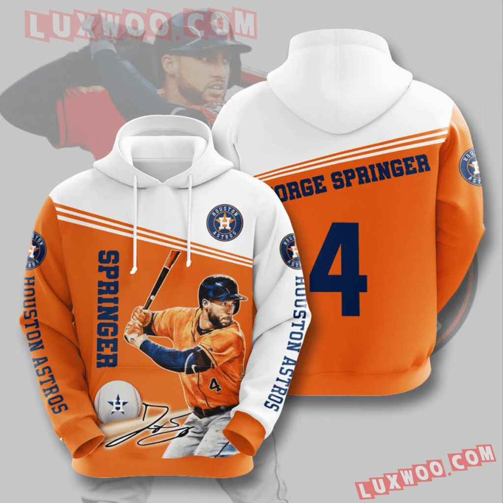 Mlb Houston Astros 3d Hoodies Printed Zip Hoodies Sweatshirt Jacket V9
