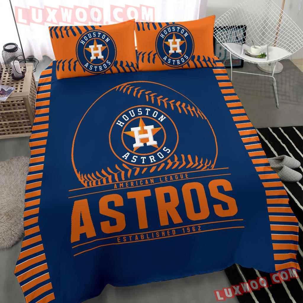 Mlb Houston Astros 3d Quilt Bedding Set V1