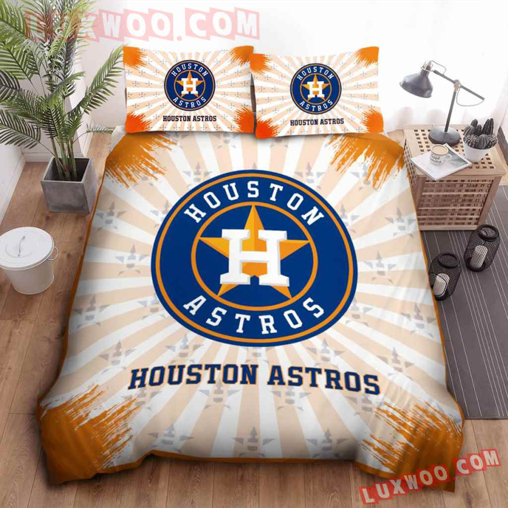 Mlb Houston Astros 3d Quilt Bedding Set V2