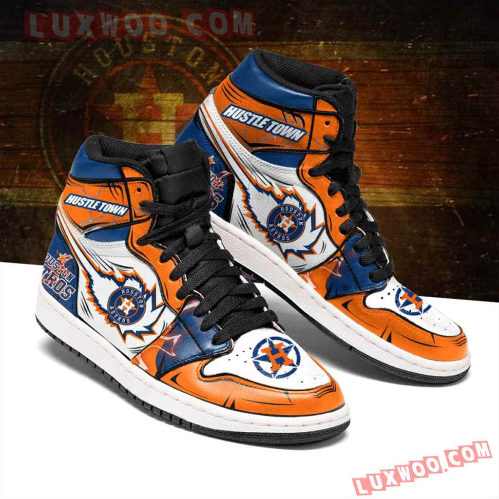 Mlb Houston Astros Air Jordan 1 Custom Shoes Sneaker V1