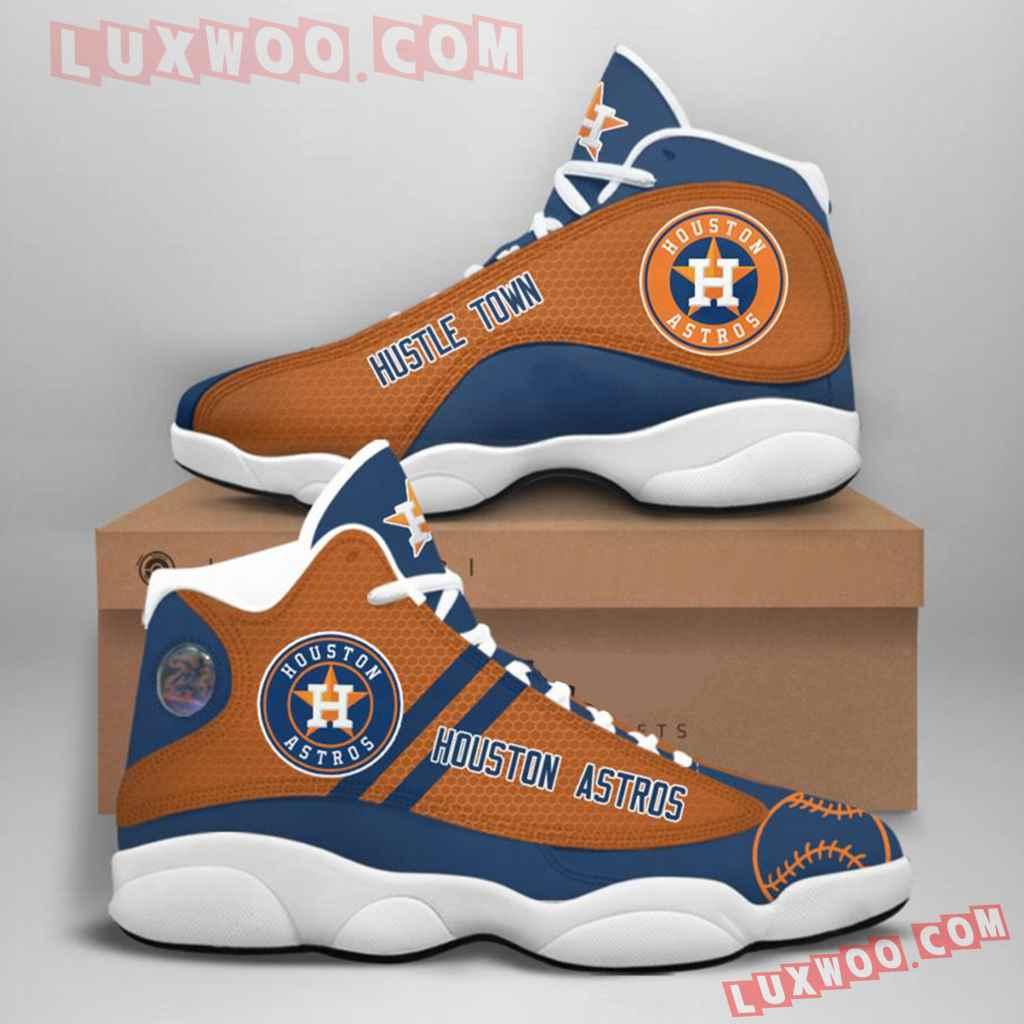 Mlb Houston Astros Air Jordan 13 Custom Shoes Sneaker V1