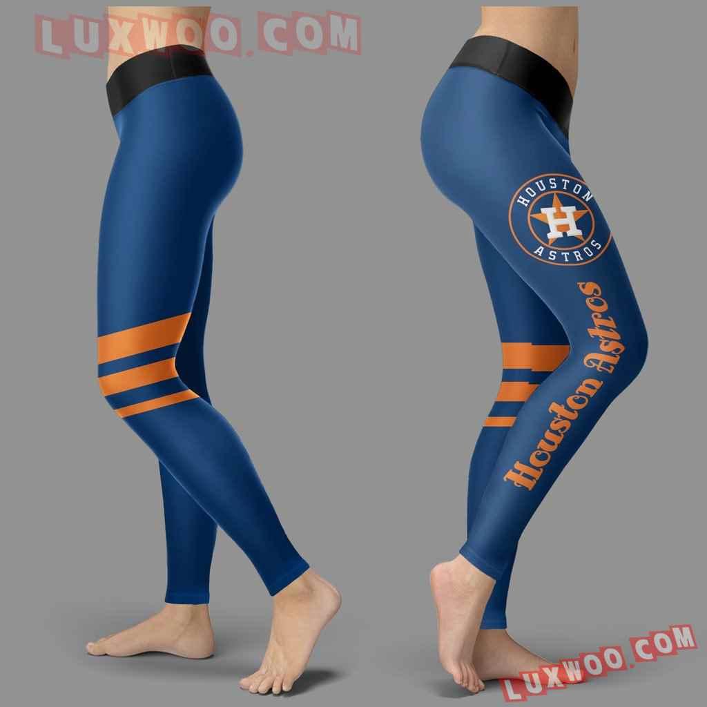Mlb Houston Astros Leggings 3d Custom Print Leggings Sport V3
