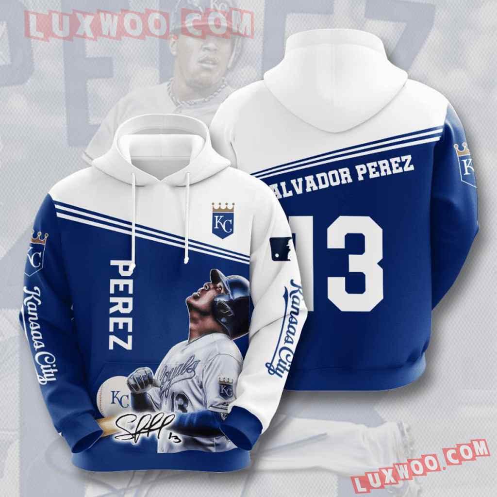 Mlb Kansas City Royals 3d Hoodies Printed Zip Hoodies Sweatshirt Jacket V