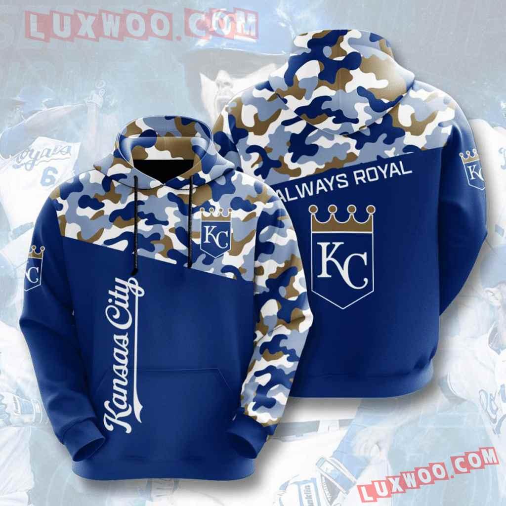 Mlb Kansas City Royals 3d Hoodies Printed Zip Hoodies Sweatshirt Jacket V3