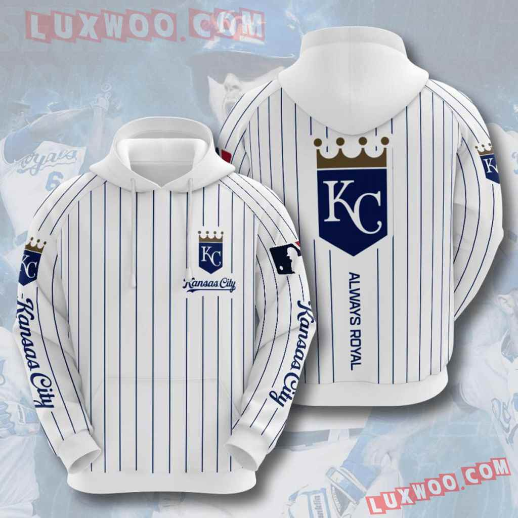 Mlb Kansas City Royals 3d Hoodies Printed Zip Hoodies Sweatshirt Jacket V5