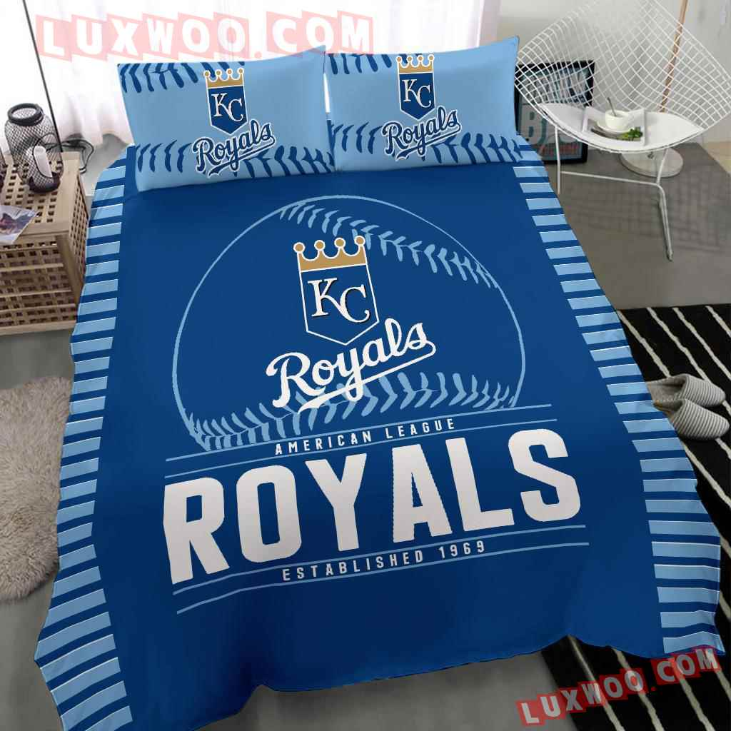 Mlb Kansas City Royals 3d Quilt Bedding Set V1