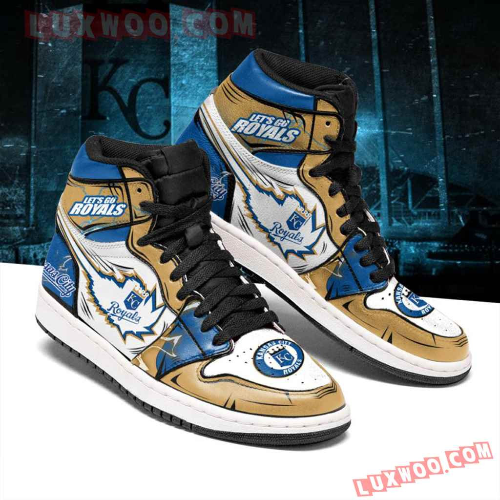 Mlb Kansas City Royals Air Jordan 1 Custom Shoes Sneaker V1