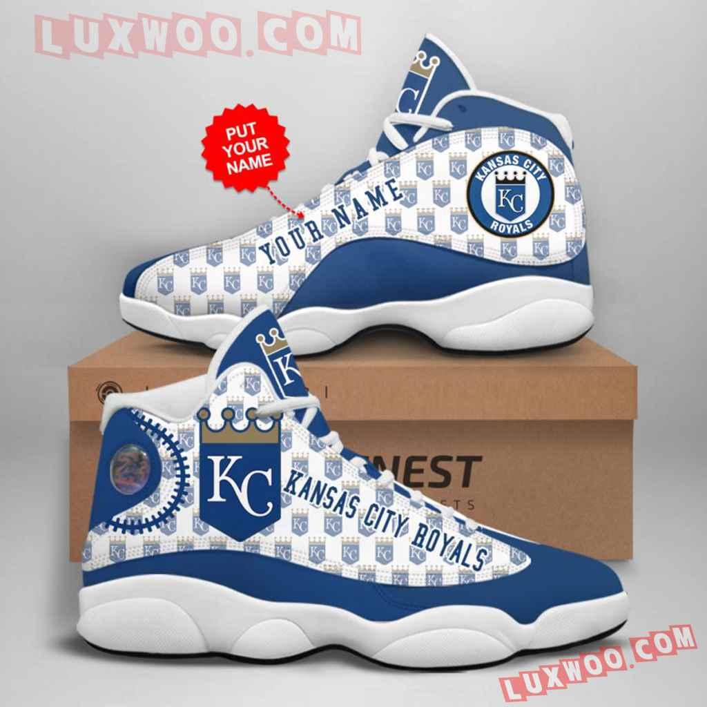 Mlb Kansas City Royals Air Jordan 13 Custom Shoes Sneaker V1