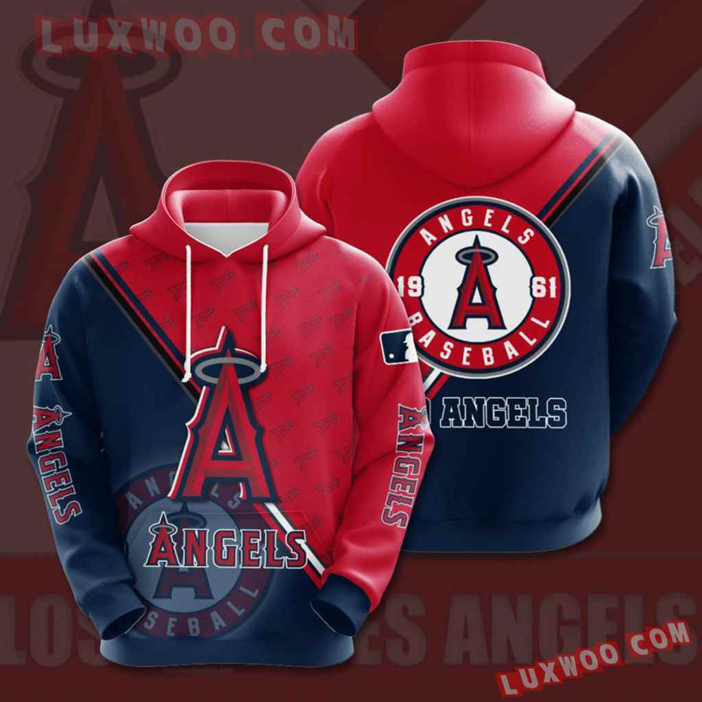 Mlb Los Angeles Angels 3d Hoodies Printed Zip Hoodies Sweatshirt Jacket V1