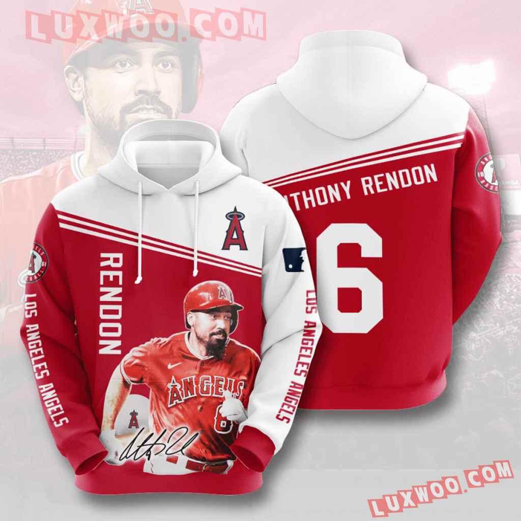 Mlb Los Angeles Angels 3d Hoodies Printed Zip Hoodies Sweatshirt Jacket V10