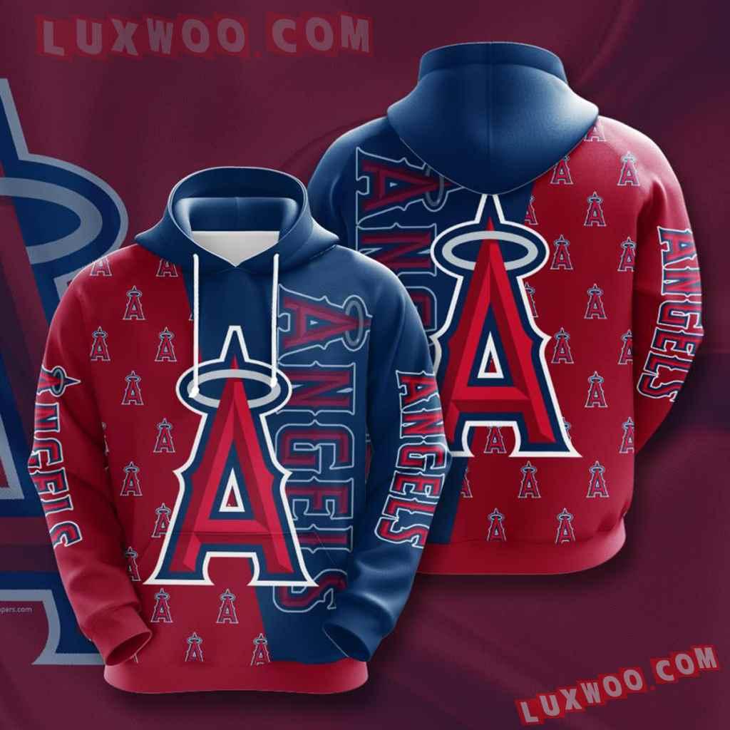 Mlb Los Angeles Angels 3d Hoodies Printed Zip Hoodies Sweatshirt Jacket V2