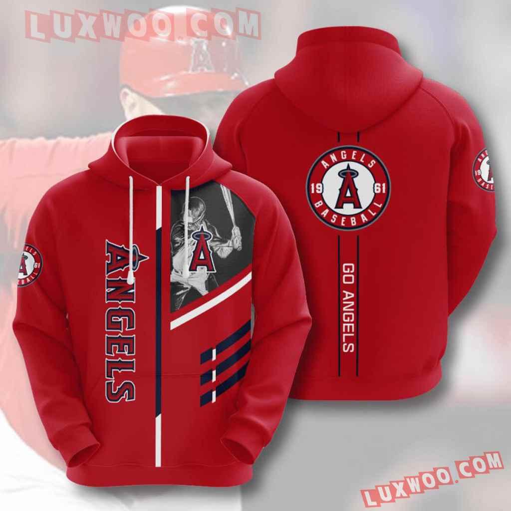 Mlb Los Angeles Angels 3d Hoodies Printed Zip Hoodies Sweatshirt Jacket V3
